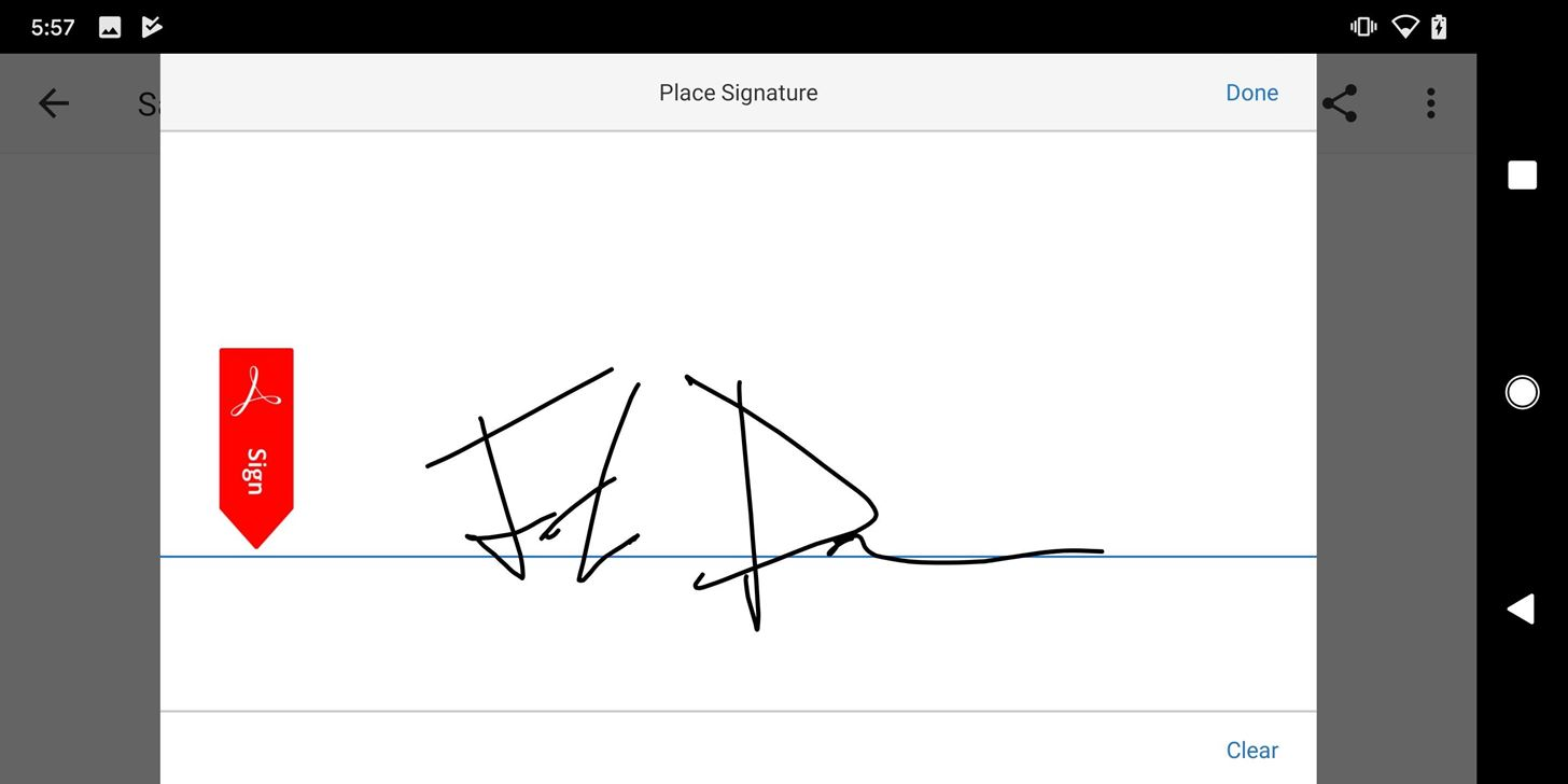 Use Adobe Fill & Sign to electronically fill in and sign important forms on Android or iOS.