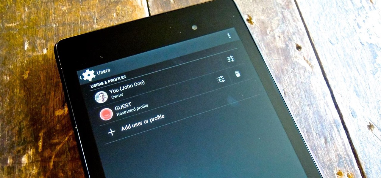 Create Restricted Profiles on Your Nexus 7 for Guest Users