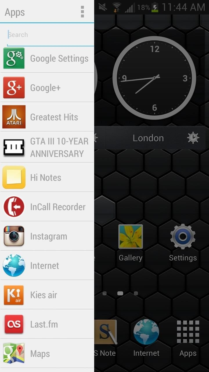 Access Apps, Settings, & More Anywhere on Your Samsung Galaxy Note 2 with This Customizable Sidebar