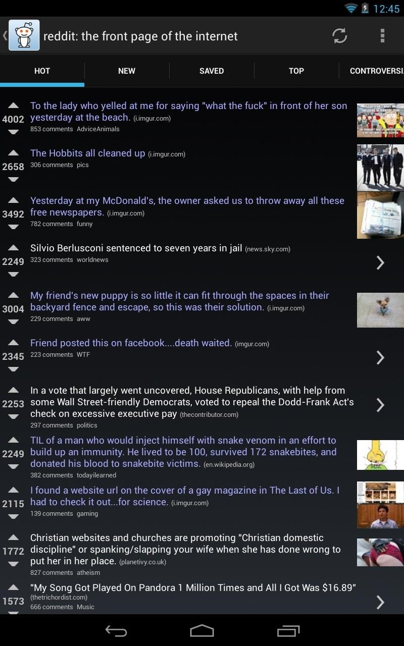 How to Get the Best Reddit Experience on Your Nexus 7 Tablet (Or Any Other Android Tablet)