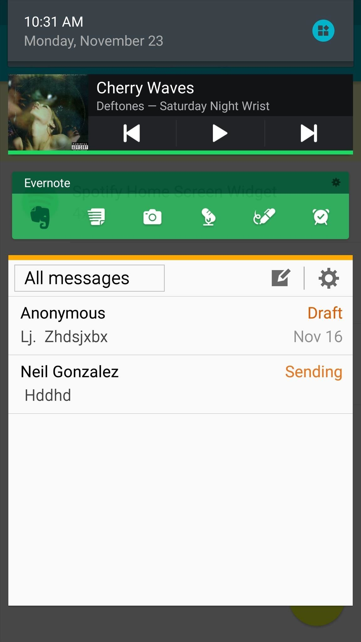 how to turn on status bar on android