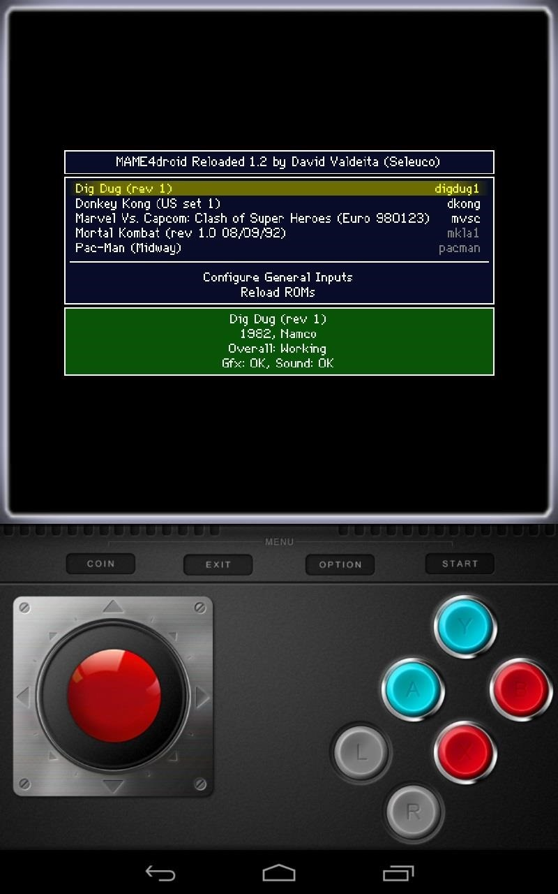 mame for droid roms