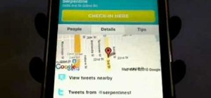 View location details with the Foursquare iPhone app