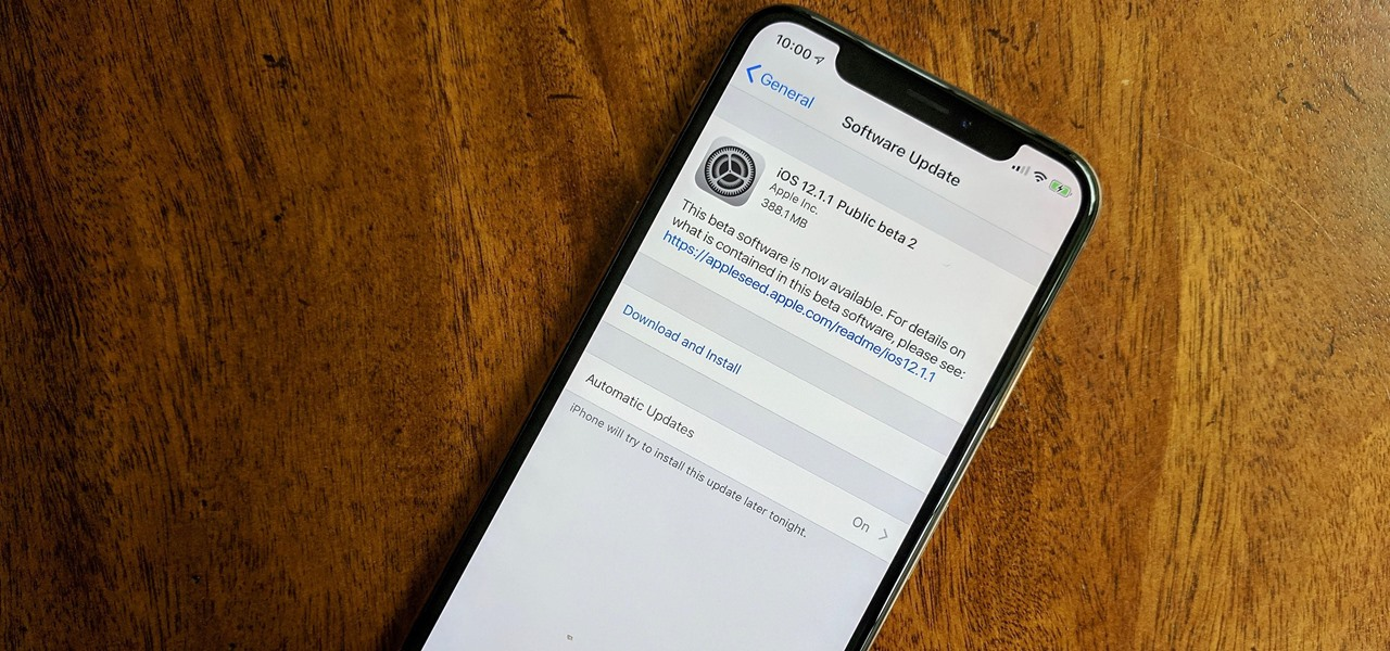 iOS 12.1.1 Public Beta 2 Released Shortly After Dev Beta 2
