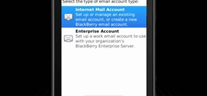 Set up a personal email account on a BlackBerry Torch 9800 smartphone