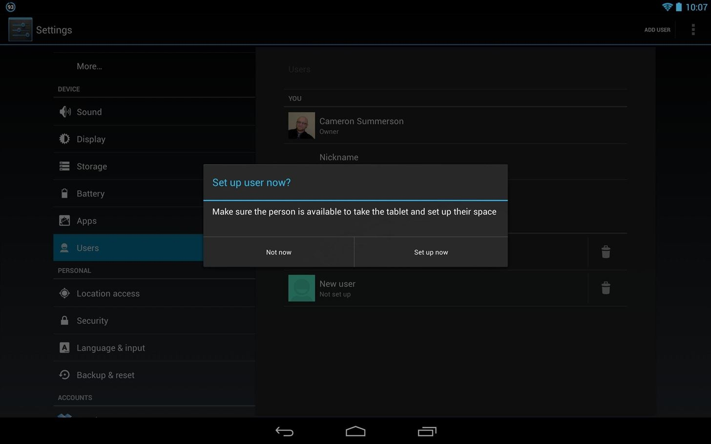 How to Set Up Multiple Users on Your Android Jelly Bean 4.2 Tablet