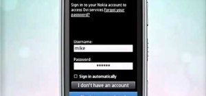 Sign into Facebook and view status updates on a Nokia C6-01