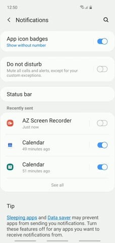How to disable App Icon Badges and unread bills on your Galaxy S10
