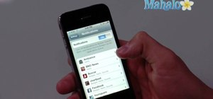 Adjust notification settings on an Apple iPhone 4
