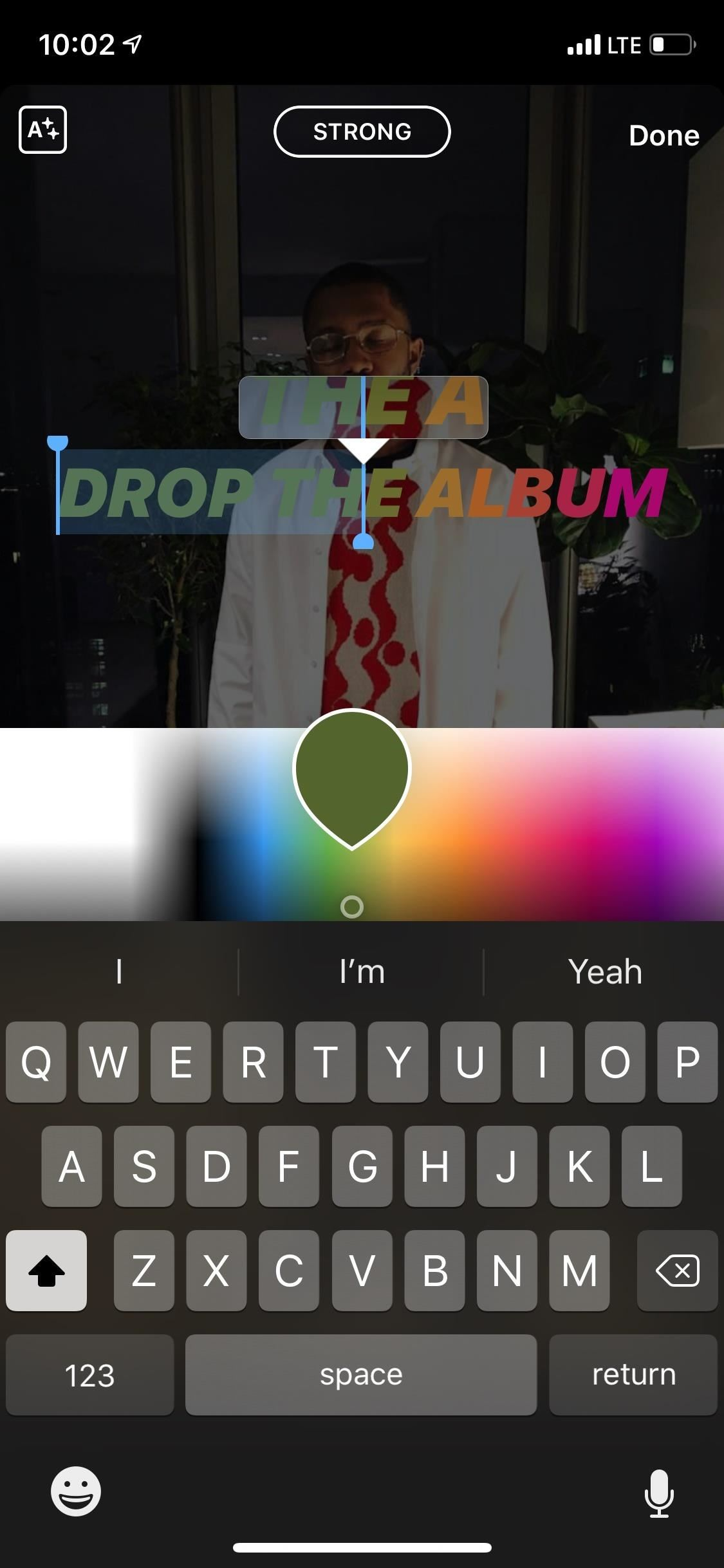 How to change font color on instagram story