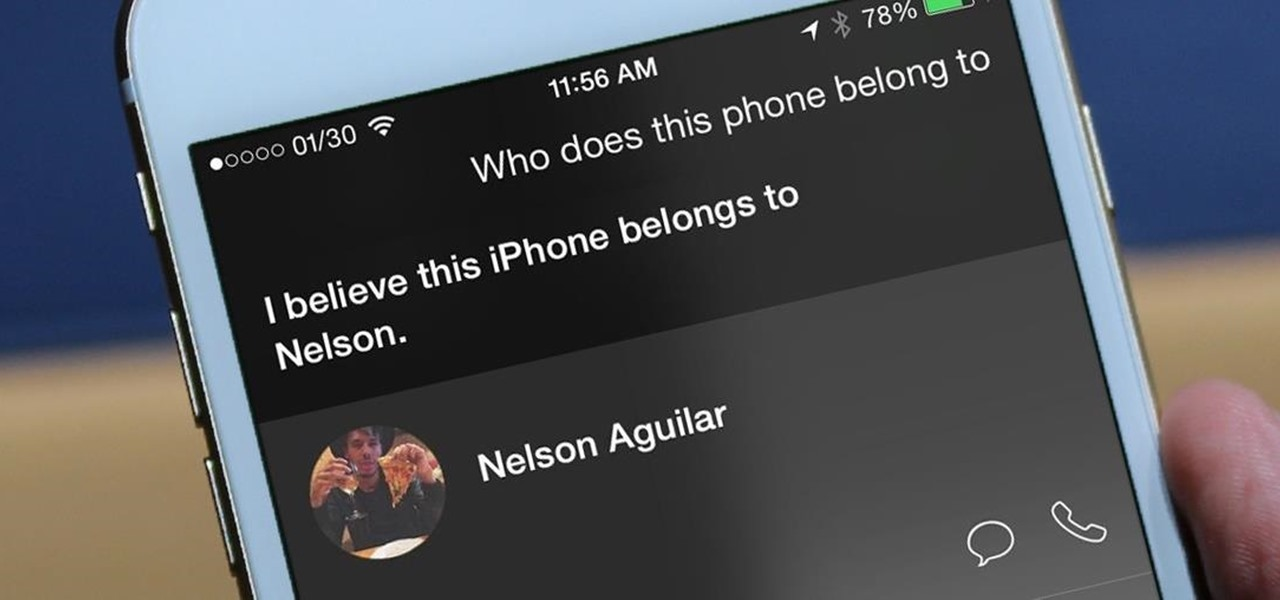 Return a Lost iPhone to Its Owner Using Siri