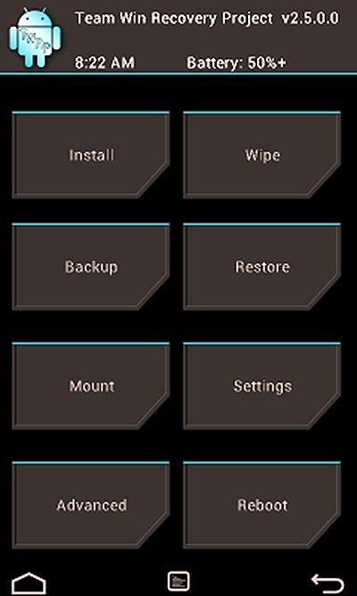 How to customize your twrp custom recovery on your nexus 7 tablet its buttons are ugly fonts are jagged and it downright looks out of place compared to the rest of android jelly bean voltagebd Choice Image