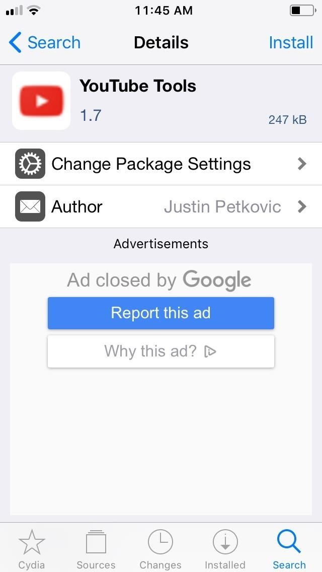 This Tweak Gives You Free YouTube Premium Features on Your iPhone for Nothing, Including Background Playback