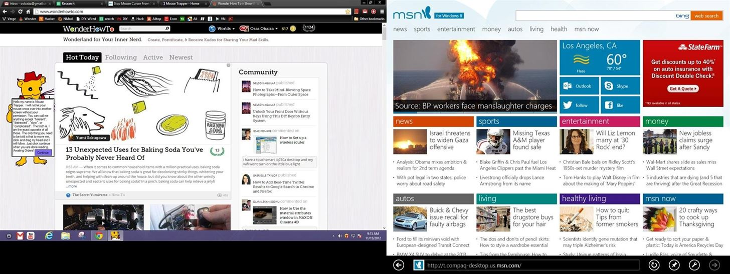 How to Use Hot Corners More Easily in a Dual Monitor Windows