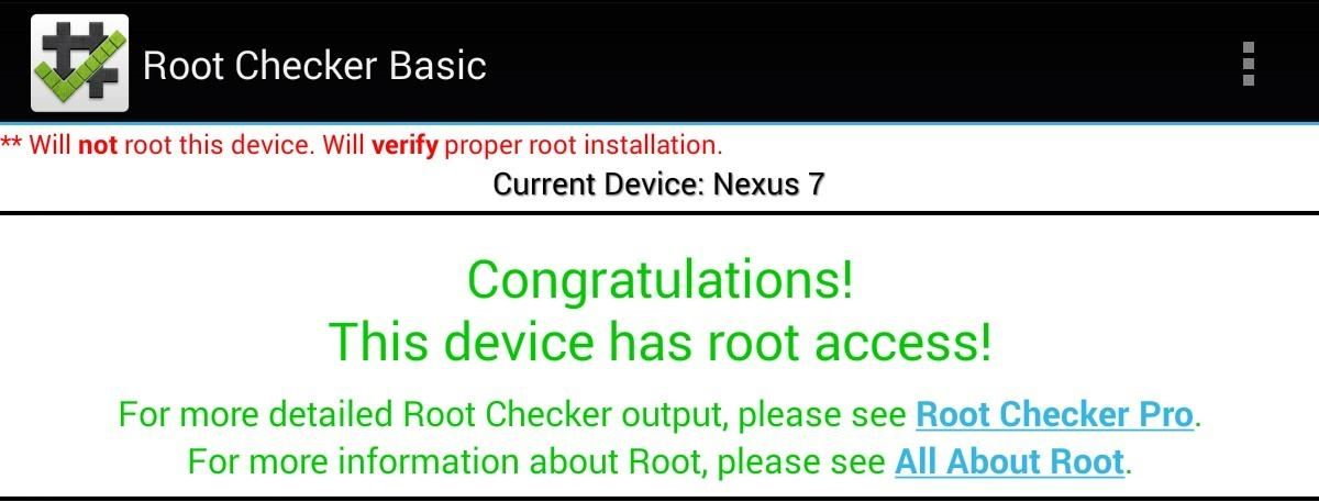 How to Root Your Nexus 7 in Less Than Two Minutes—Without a Computer