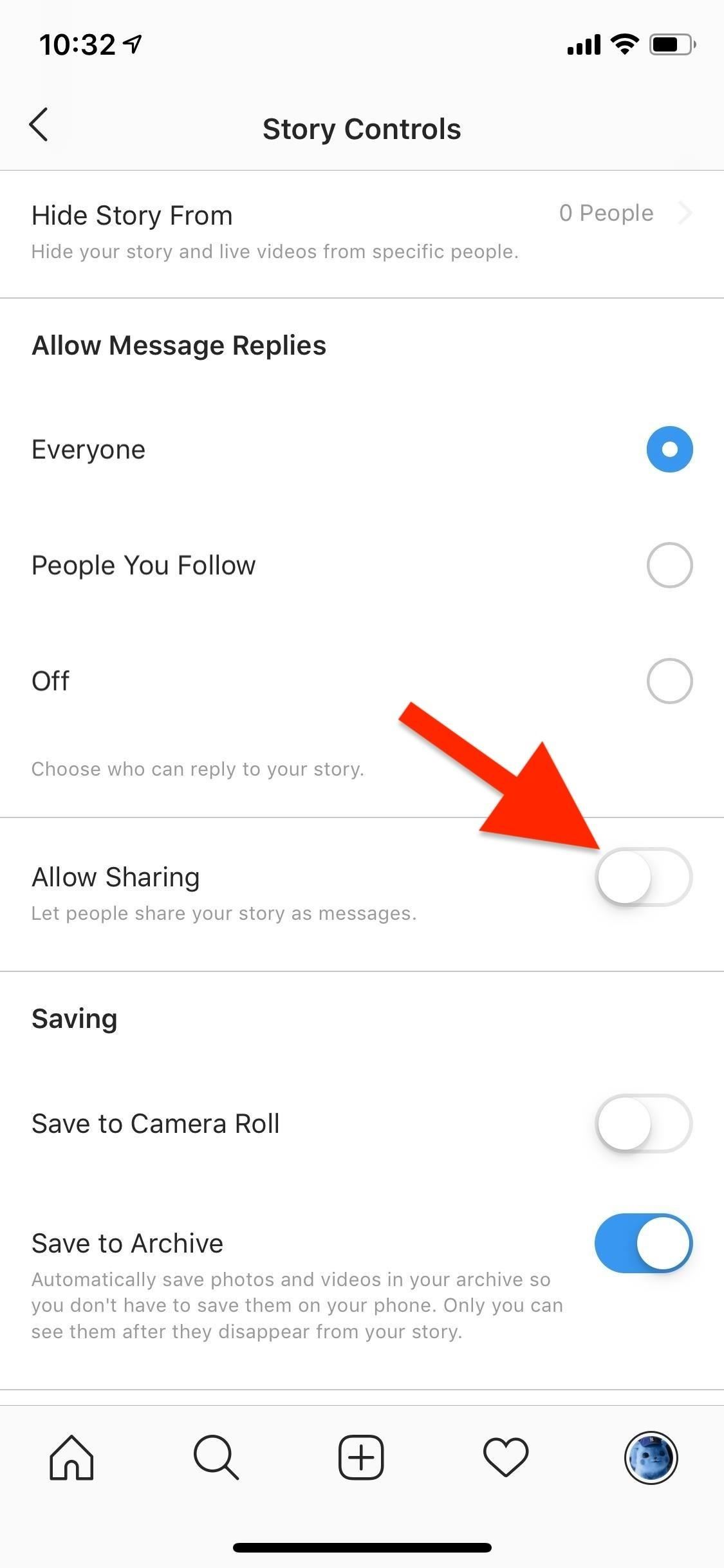 How to Prevent Friends from Sharing Your Instagram Stories as Instant Messages