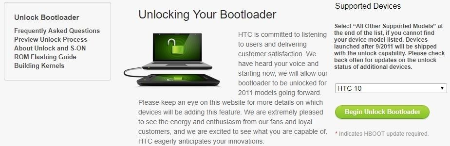 How to Unlock Your HTC 10's Bootloader « Android :: Gadget Hacks