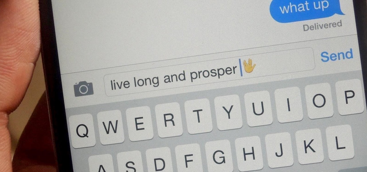 Add the Secret 'Vulcan Salute' Emoji to Your iPhone