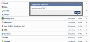 Remove an application from your Facebook profile