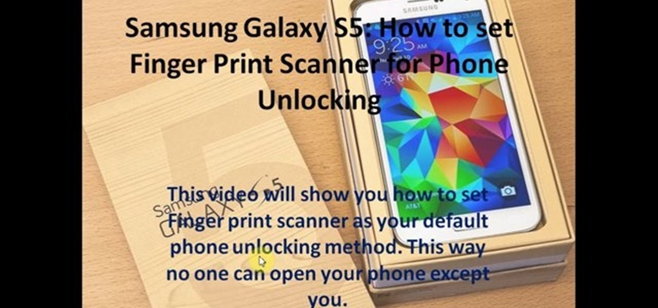 How to Set Finger Print Scanner for Phone Unlocking