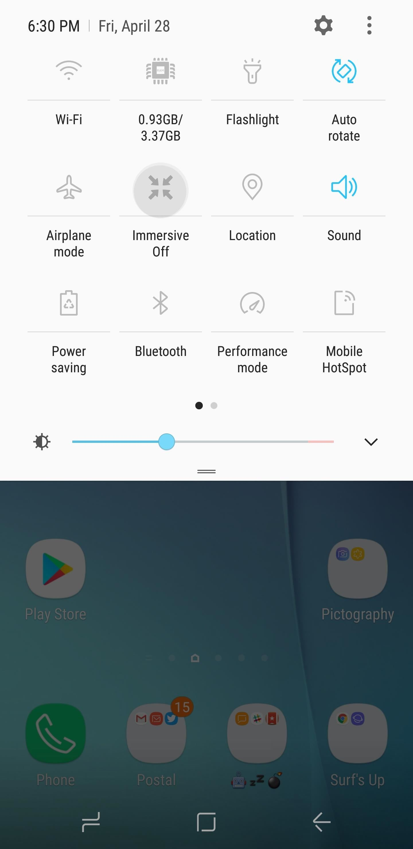 Get an Immersive Mode Quick Settings Tile on Any Nougat Device — No Root Needed