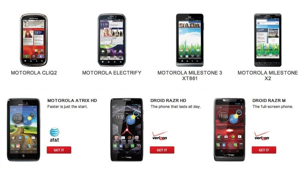 No Jelly Bean for You? Motorola Offers Trade-In Program, Gives Credit for Newer Android 4.1 Devices