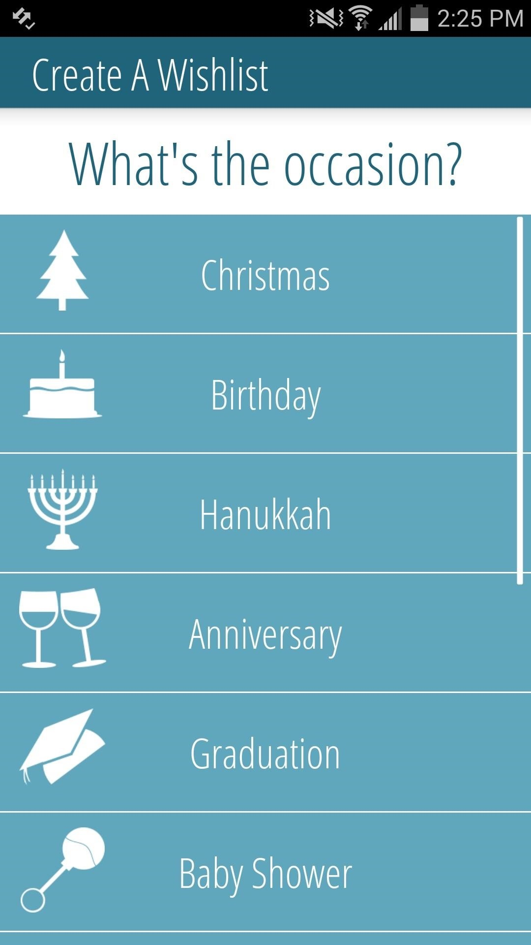 Open The App Then Select An Occasion To Begin A New List And Hit Gift Icon Add Something It