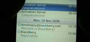 Use email on a Blackberry Storm 9500