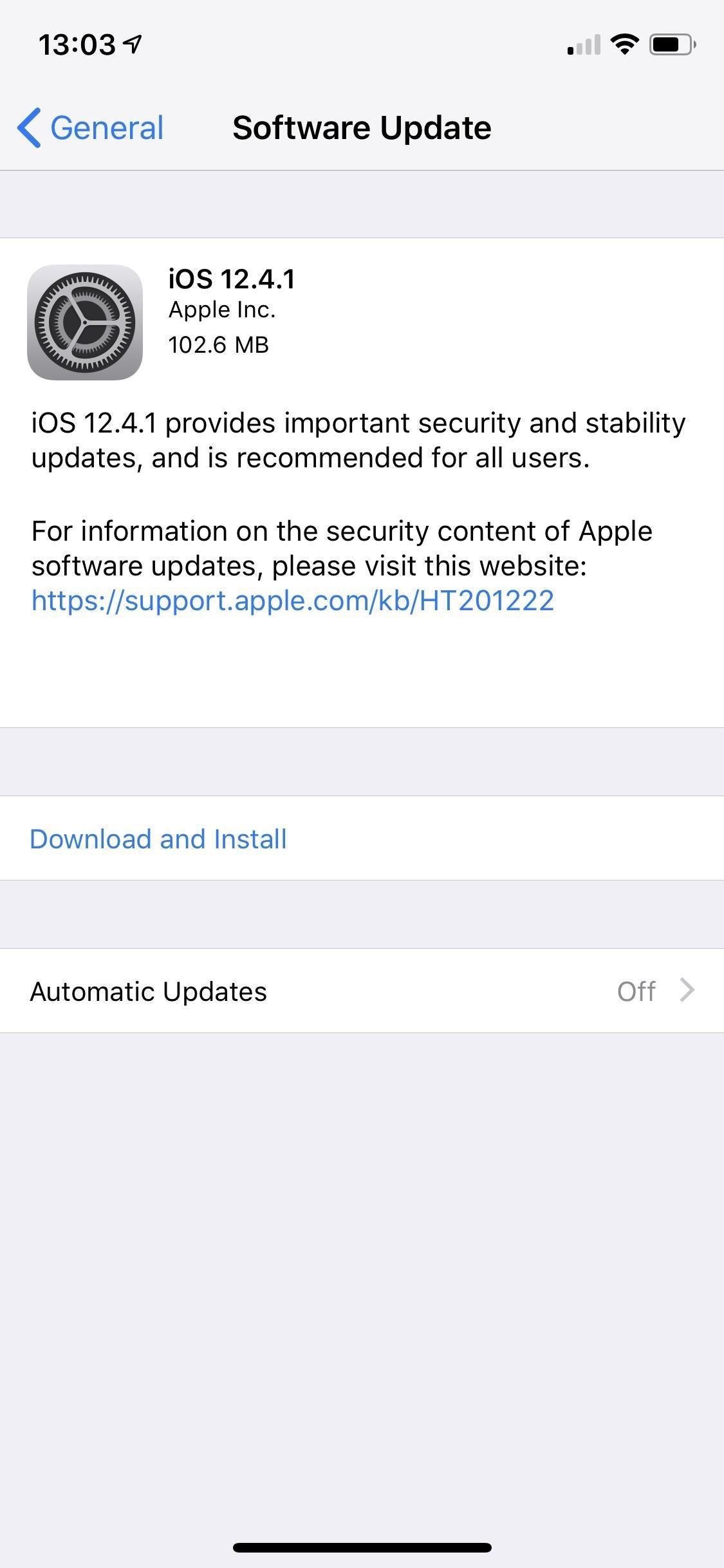 Apple addresses the vulnerability