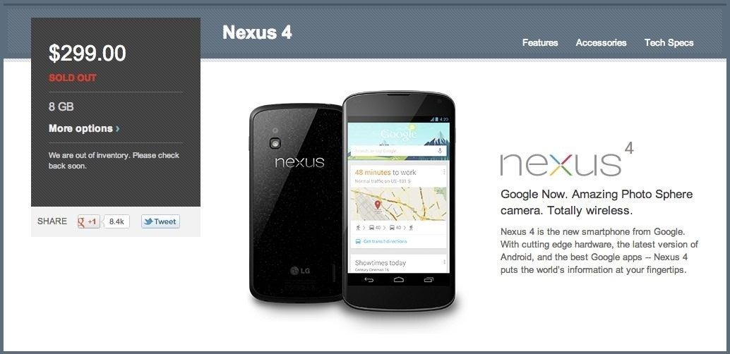 Get Instant Alerts for When the Nexus 4 and Nexus 7 Are Back in Stock on Google Play