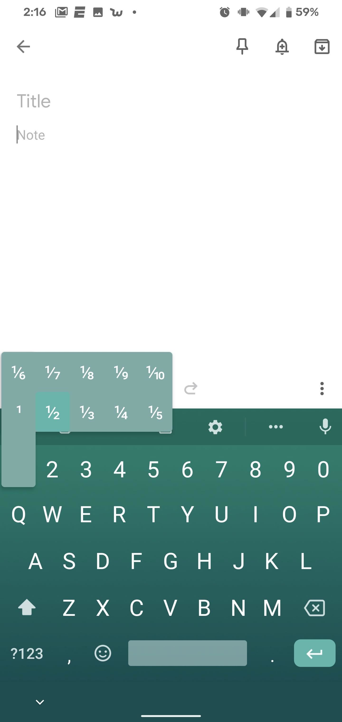 There's a Handy Shortcut for Typing Fractions on Android