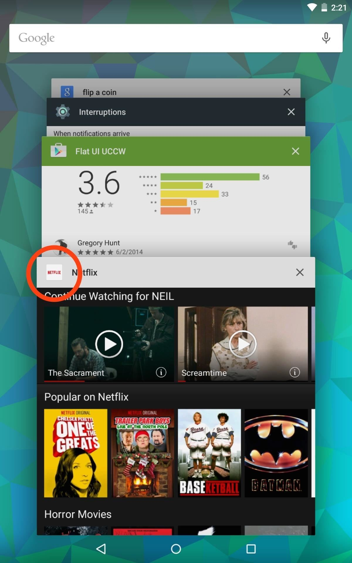 Quick Tip: Access App Info Pages from Lollipop's Recent Apps Menu