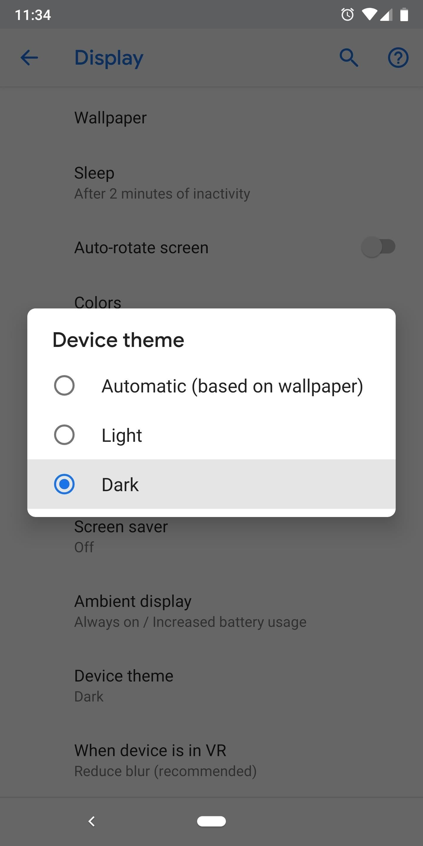 How to Enable Android P's New Manual Dark Theme on Your Google Pixel