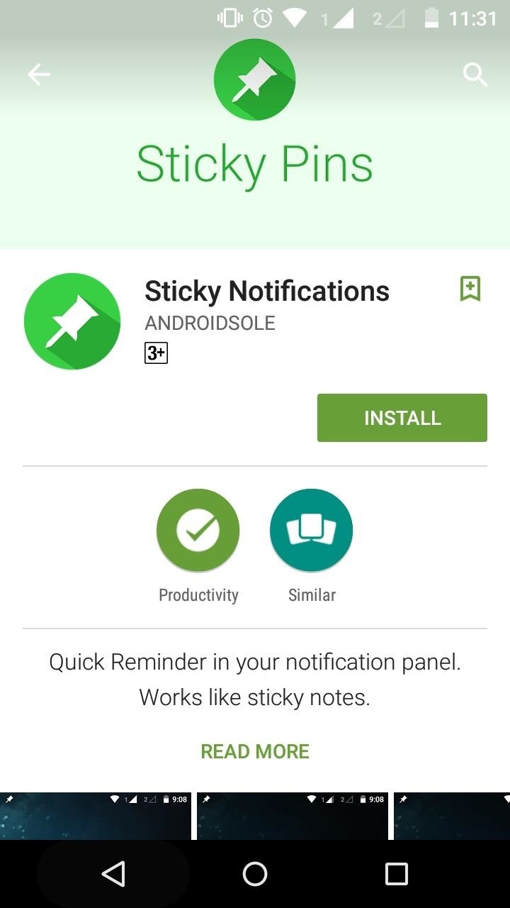 How to Create a Quick to-Do or Reminder Always Pinned in Notification Panel.