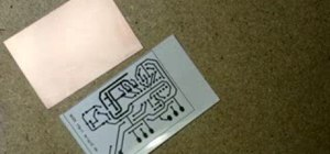 Create a printed circuit board (PCB) with a printer, photo paper and iron