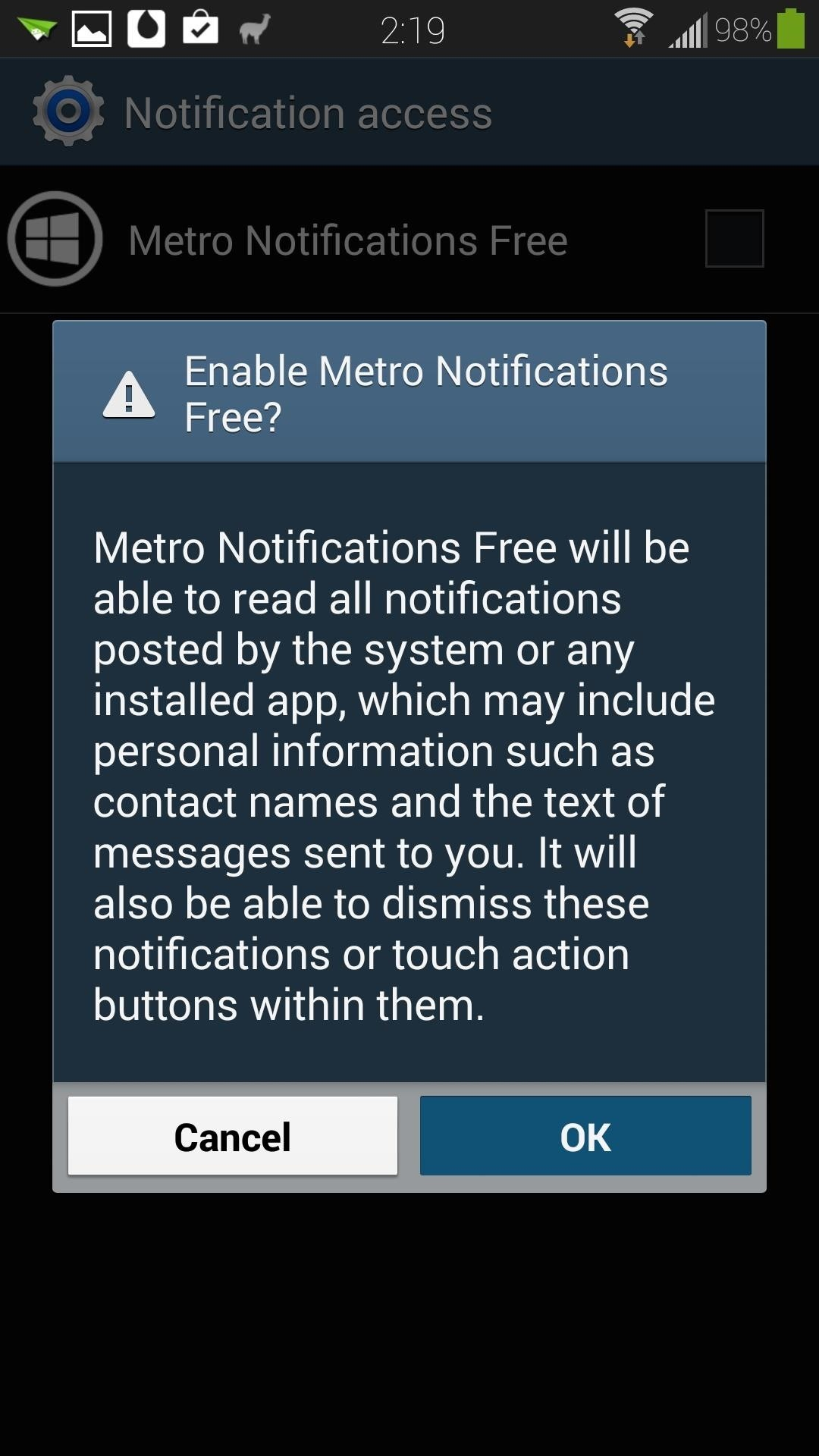 Tap On The Enable Now Button, Which Will Take You Directly To Your Gs4's  Notification