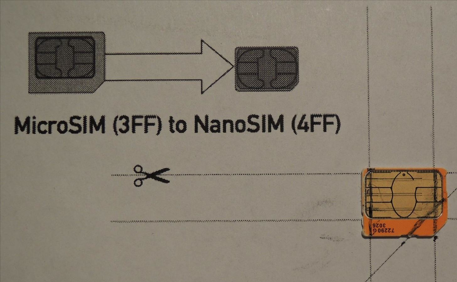 Step 2Trace Cut Lines On Your Micro SIM Card
