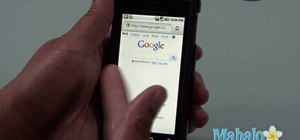 Use the web browser on a Motorola Droid phone