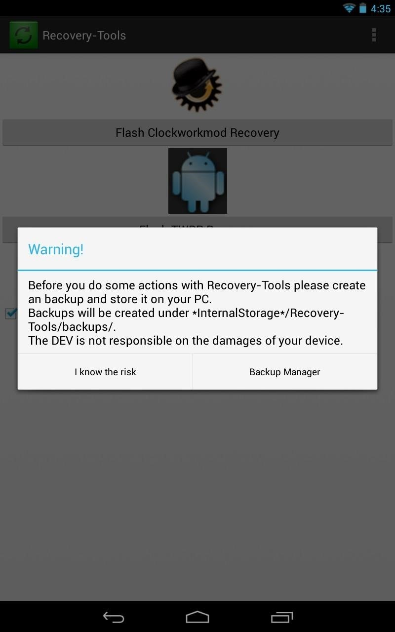 The Easiest Way to Install a Custom Recovery on Your Nexus 7 Tablet