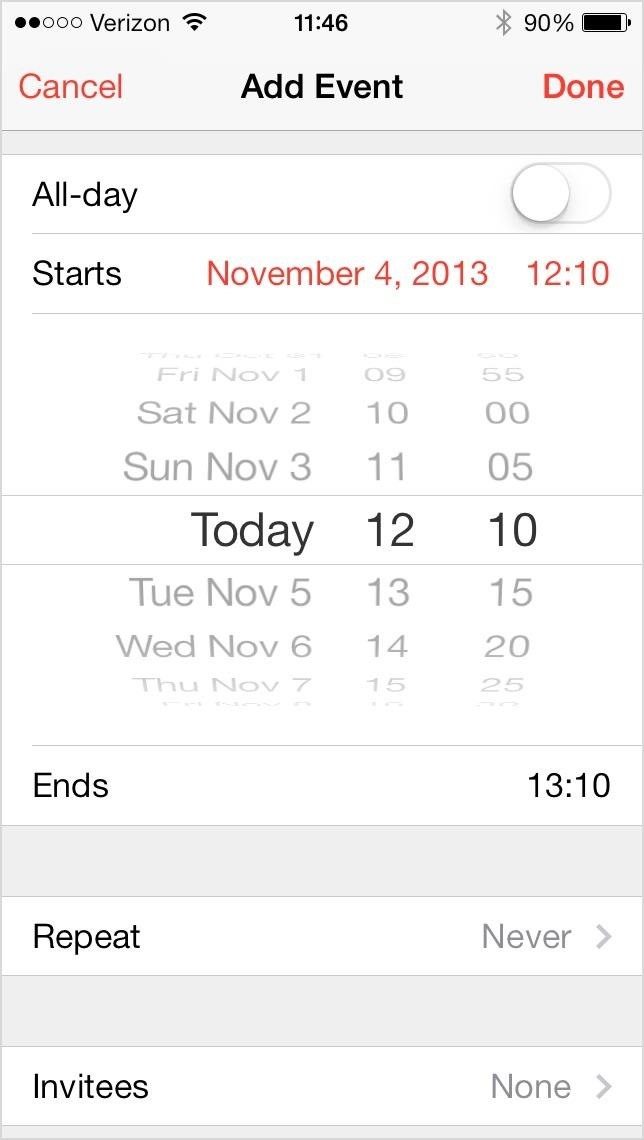 how to change year on iphone calendar