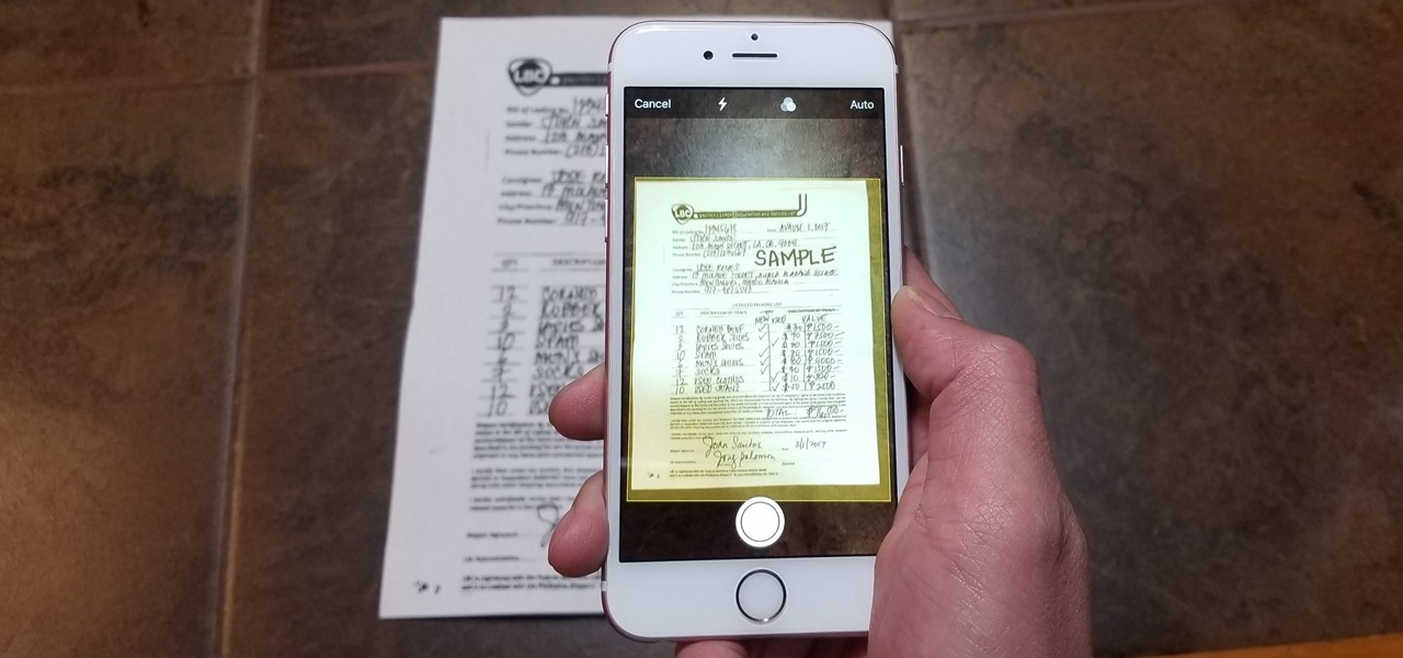 Easily Scan Documents on Your iPhone in iOS 11