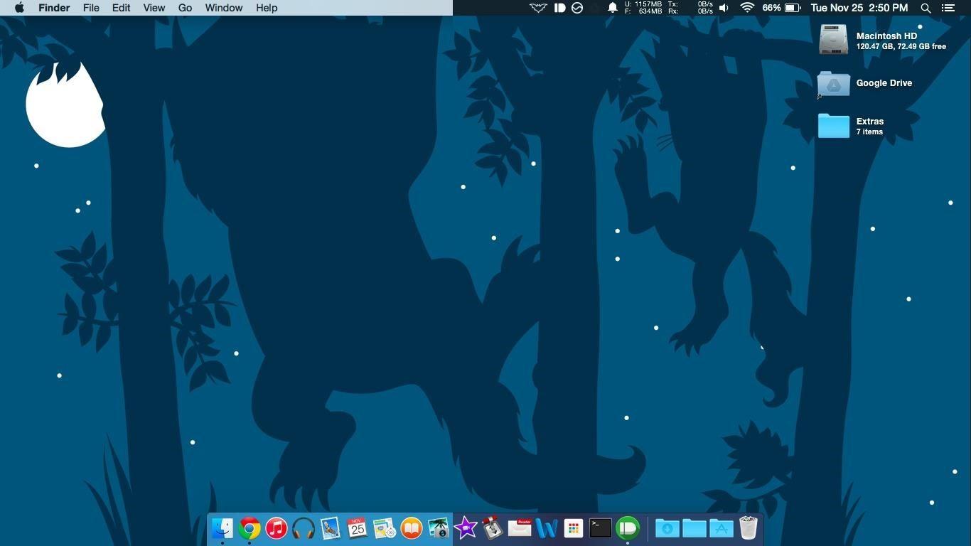 Activate Dark Mode in Yosemite with a Single Click