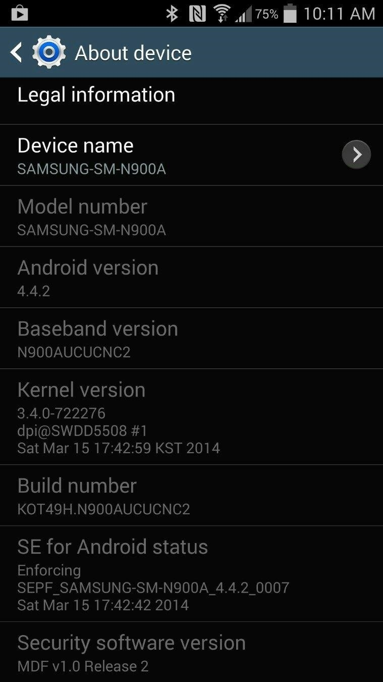 KitKat Rolling Out for the AT&T Samsung Galaxy Note 3