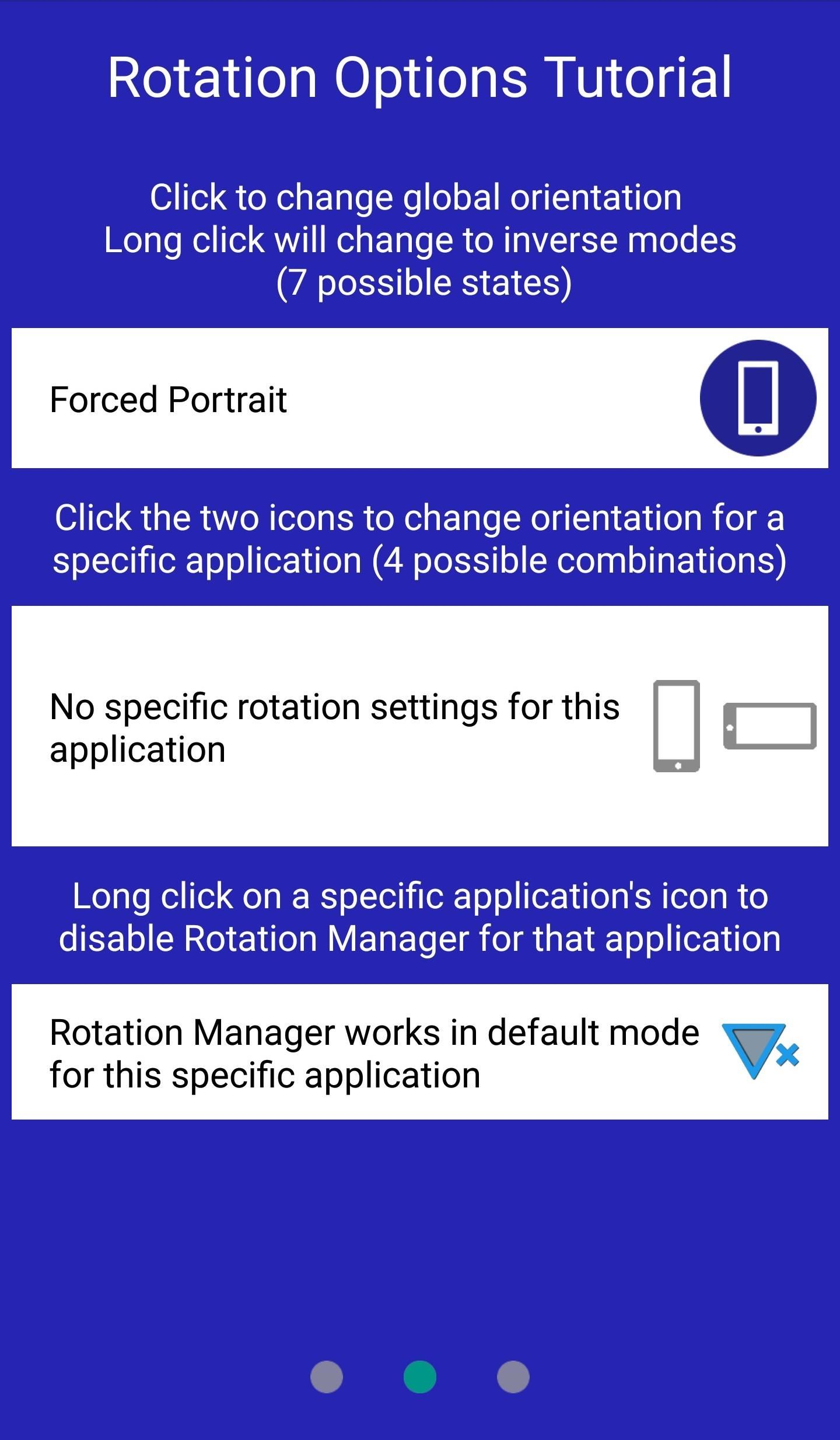 this will set portrait mode by default and let you customize rotation for other apps later on