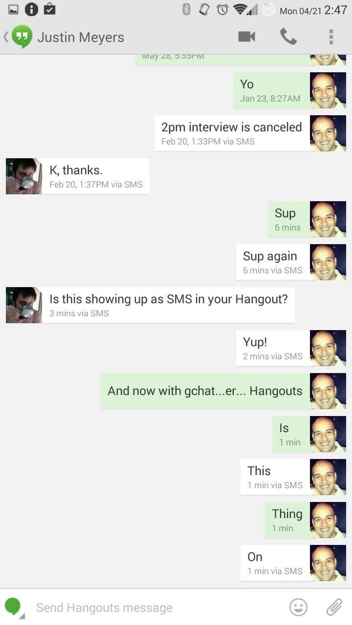 Get It Now: Hangouts 2.1 Update Brings Merged Conversations, Home Screen Widget, & More
