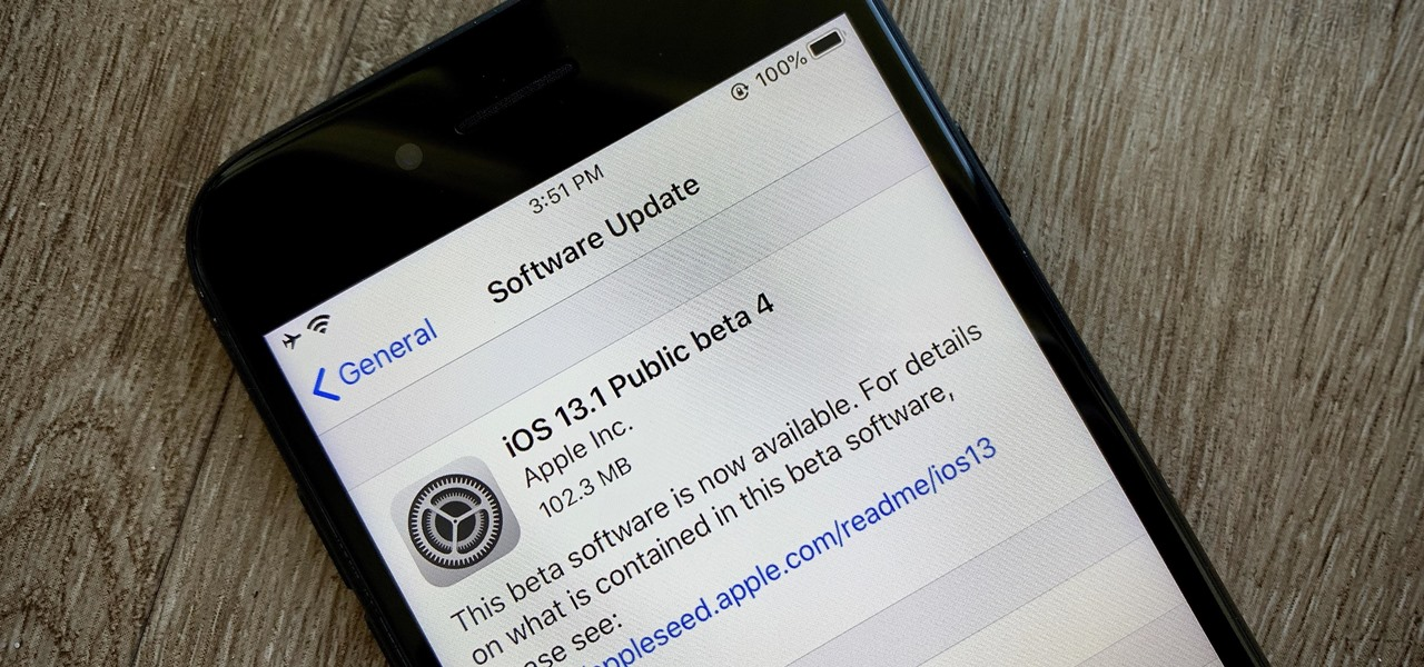 Apple's iOS 13.1 Public Beta 4 Available for iPhone