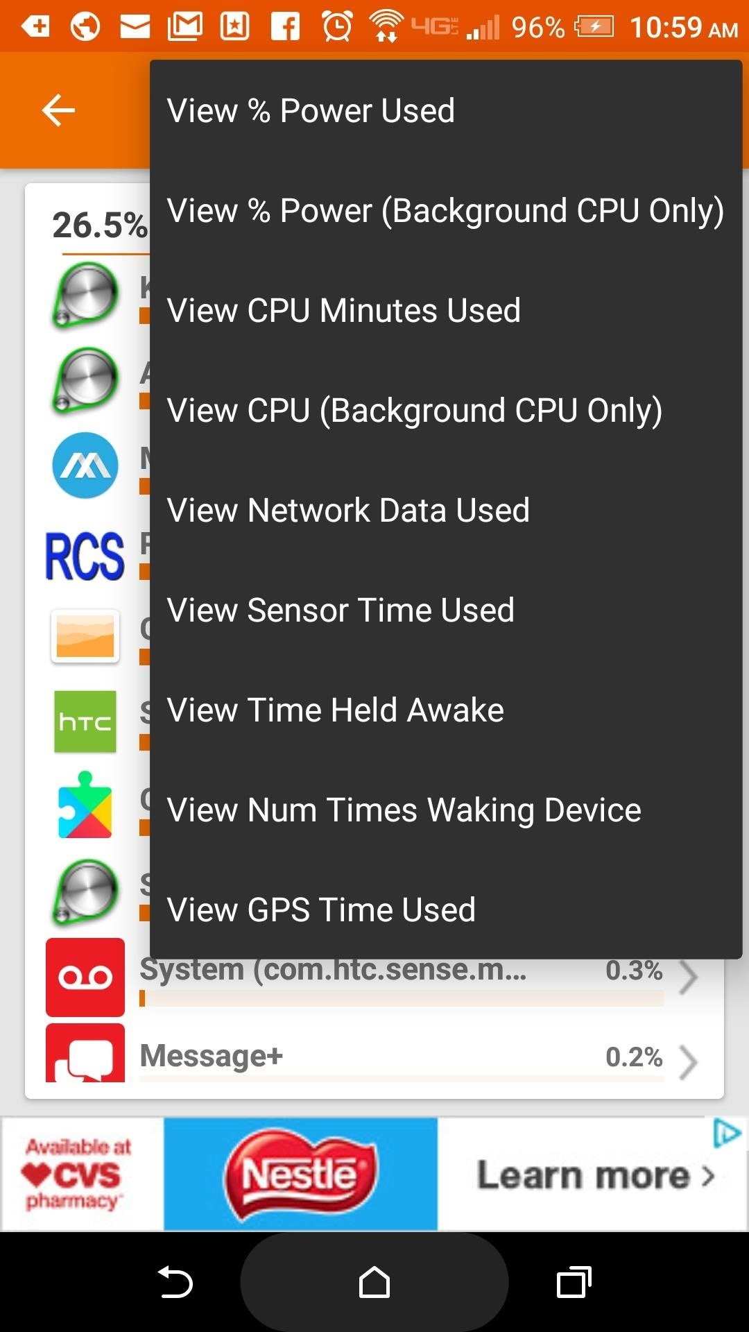 Use GSam to Its Fullest Potential to Monitor Battery Life, CPU Usage