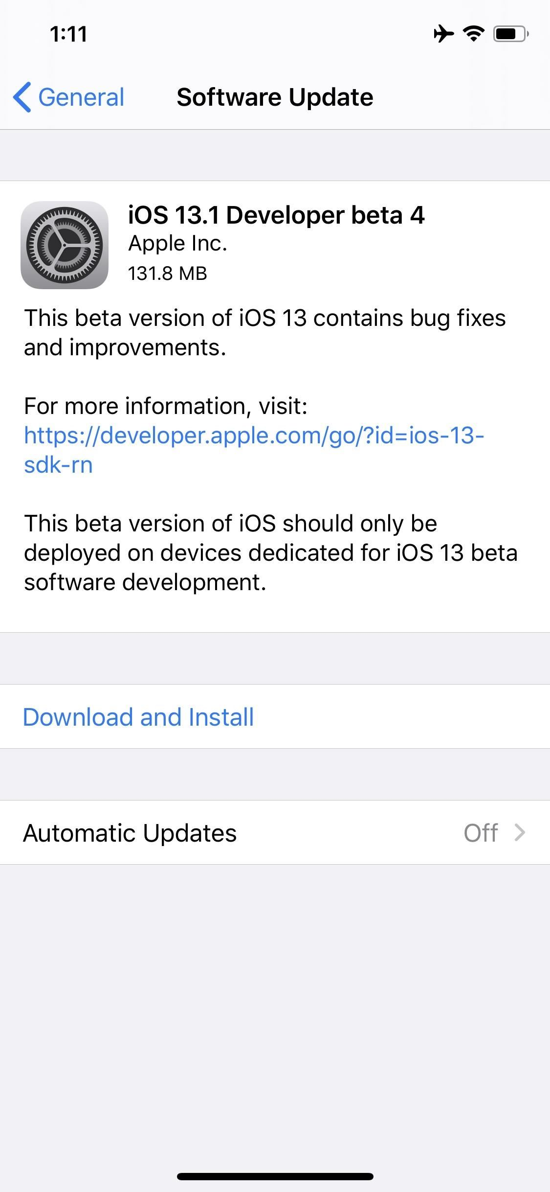Apple Just Released iOS 13.1 Developer Beta 4 for iPhone