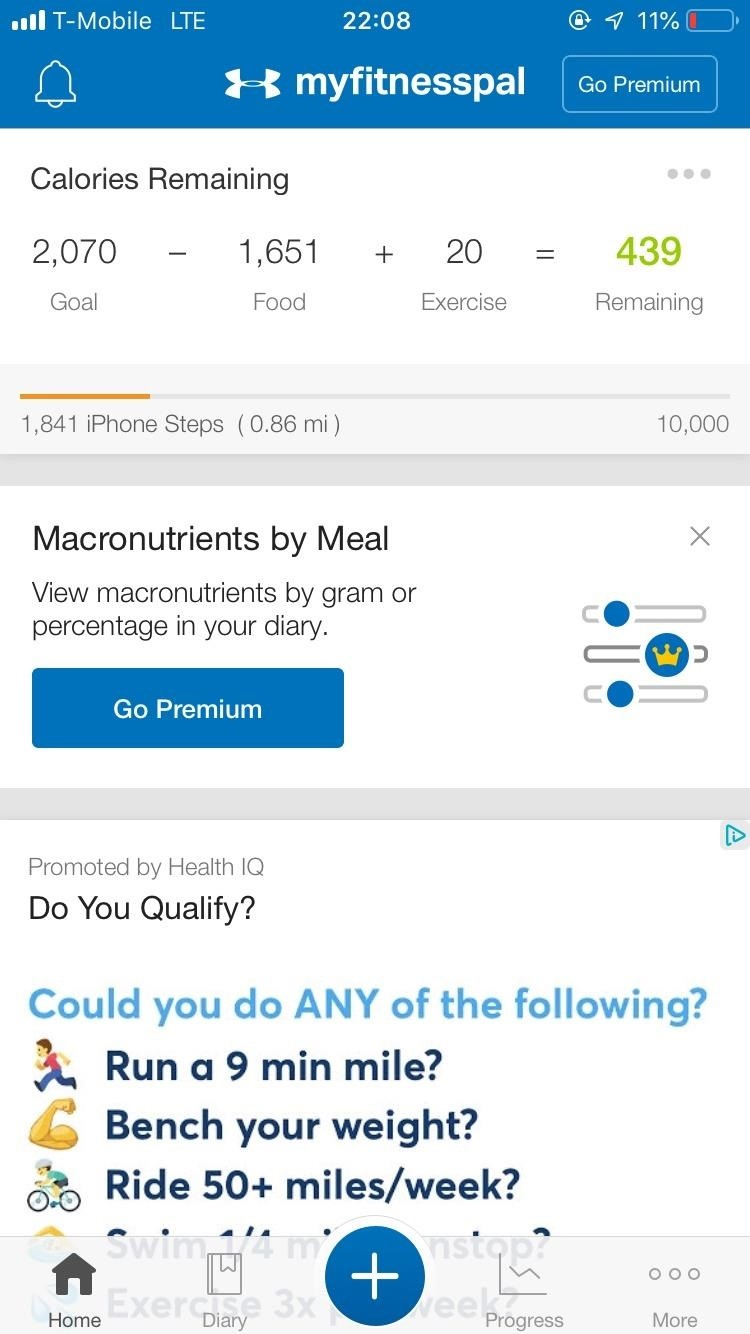 Scan food and beverage labels in MyFitnessPal if you are looking for more accurate nutrition and calories at home