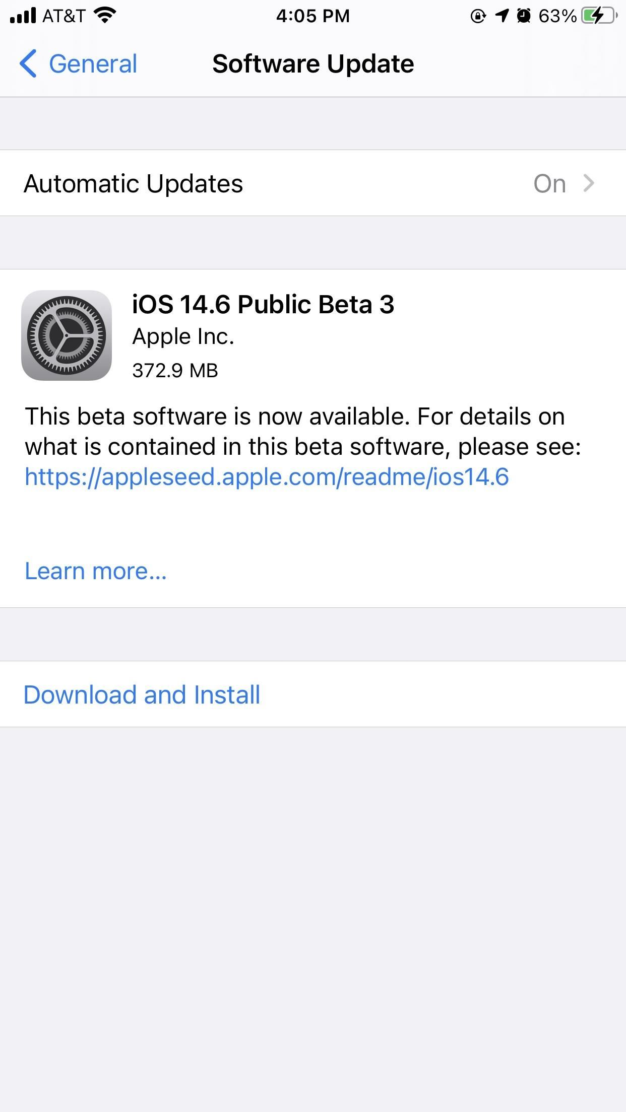 Apple Releases iOS 14.6 Beta 3 for iPhone, Adds Fix for Performance Bug